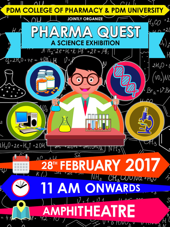 science exhibition pharma quest pdm university bahadurgarh delhi