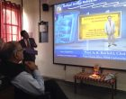 Prof. Bakhshi addresses the chemistry students of MD University