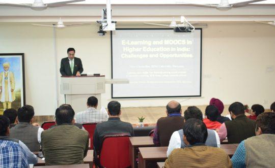 PDMU VC's address at Central University of Haryana