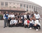 PDMU Journalism students visited Indian Parliament