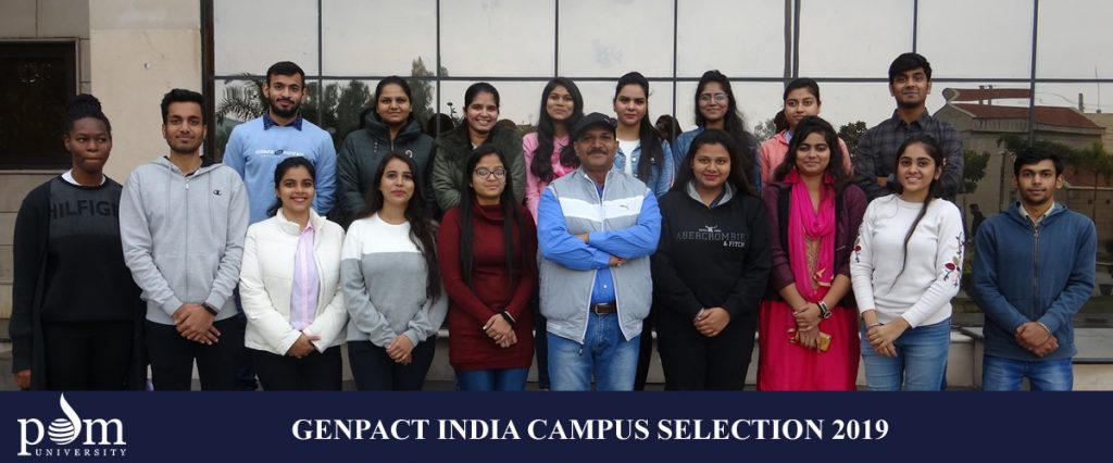Genpact India Campus Selection 2019