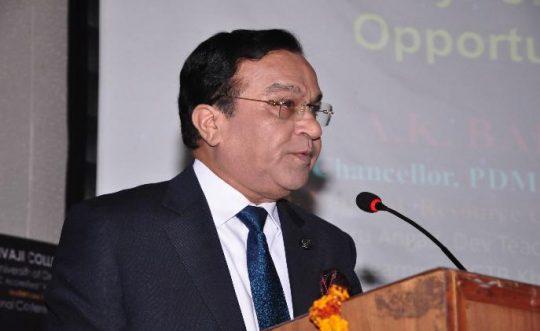 Prof. Bakhshi inaugurates National Conference at DU