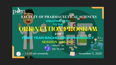 Bachelor of Pharmacy 2020 Batch Orientation Program
