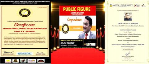 PDMU VC  Prof. A. K. Bakhshi  Felicitated