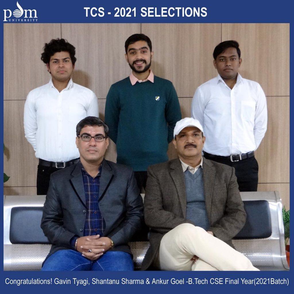 TCS 2021 Selections